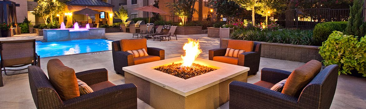 Banner Image of the outdoor fire pit area